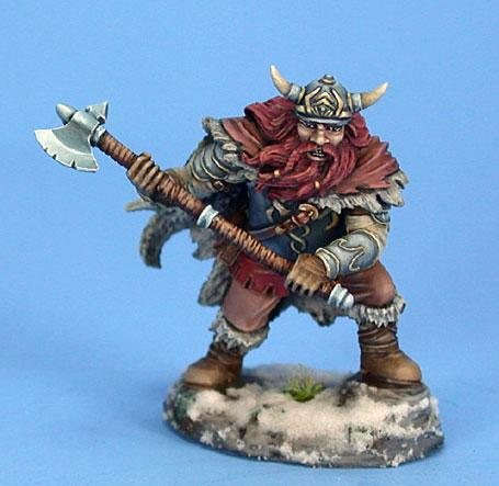 Visions In Fantasy: Male Dwarven Fighter w/Great Axe