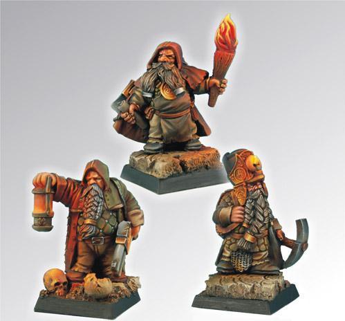 28mm Fantasy Miniatures: Dwarf Miners Set