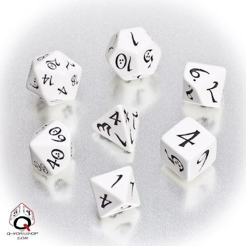 White/Black Classic RPG Dice Set (7)