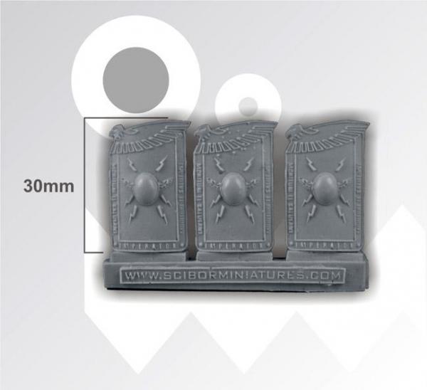 28mm Fantasy Miniatures: Roman SF Shields