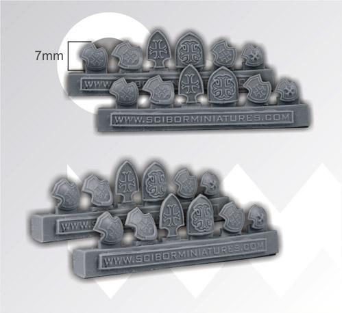28mm Fantasy Miniatures: Templar Small Shields