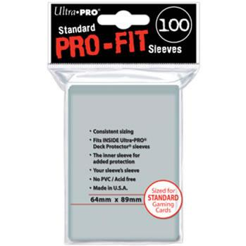 Ultra-Pro:  Pro-Fit Sleeves (clear)