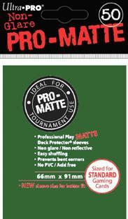 Ultra-Pro: Pro-Matte Green Deck Protector (50ct)