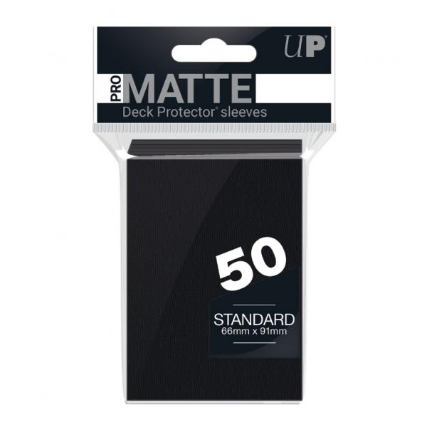PRO-Matte 50ct Standard Deck Protector sleeves: Black