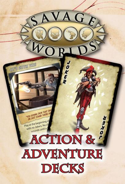 Savage Worlds RPG: Action & Adventure Decks