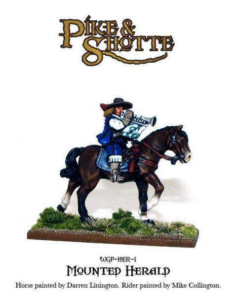 28mm Pike & Shotte: Mounted Herald