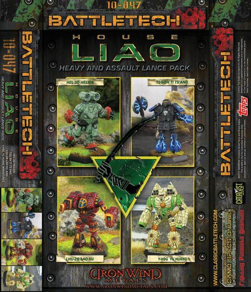 BattleTech Miniatures: House Liao Heavy-Assault Lance Set