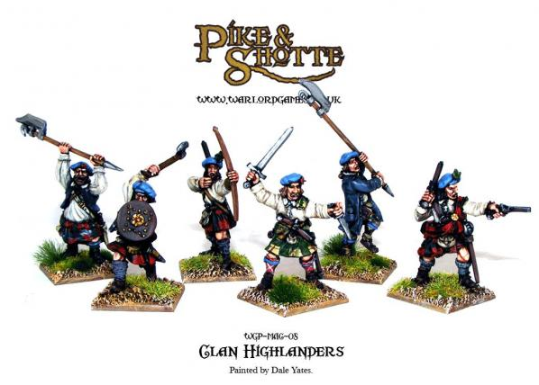 28mm Pike & Shotte: Clan Highlanders (6)