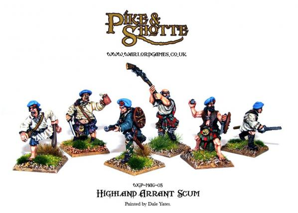 28mm Pike & Shotte: Highlander Arrant Scum (6)