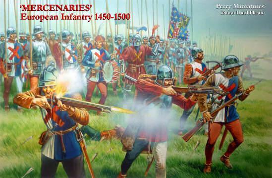 28mm Wars Of The Roses: 'Mercenaries' European Infantry 1450-1500