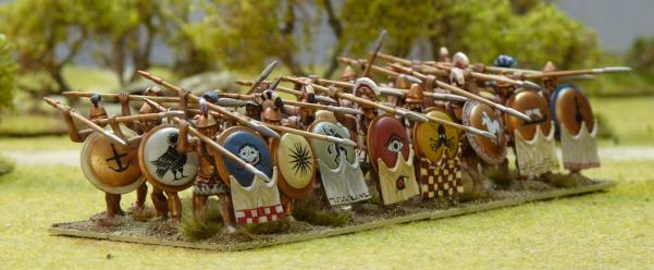 28mm Ancients Miniatures: Classic Greek Hoplites Plastics Box Set (24)