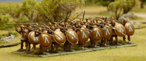 28mm Ancients Miniatures: Spartan Hoplites Plastics Box Set (24)