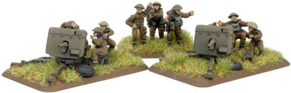 Flames of War - British: British AT Platoon (2 Pdr gun)