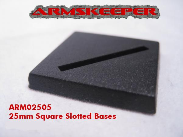 ArmsKeeper Bases: 25mm Square Slotted Bases (20)