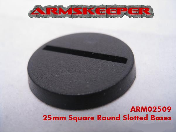 ArmsKeeper Bases: 25mm Round Slotted Bases (20)