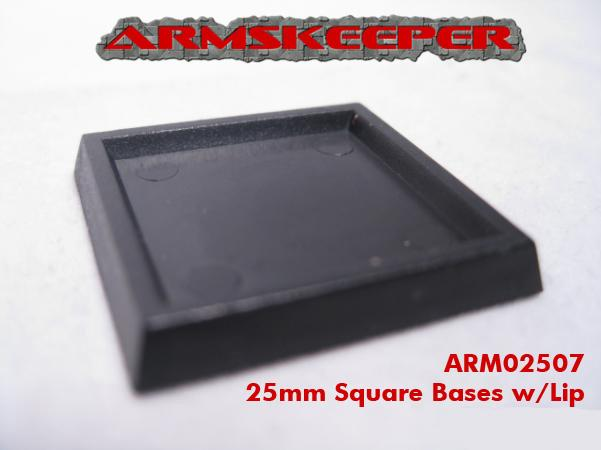 ArmsKeeper Bases: 25mm Square Bases with Lip (20)