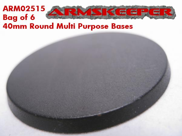 ArmsKeeper Bases: 40mm Round Multi Purpose Bases (6)