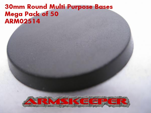 ArmsKeeper Bases: 30mm Round Multi Purpose Bases Mega Pack (50)