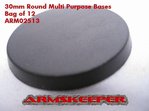 ArmsKeeper Bases: 30mm Round Multi Purpose Bases (12)