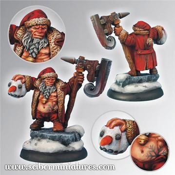 28mm Fantasy Miniatures: Christmas Snowman Slayer