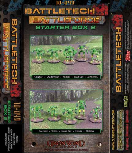 BattleTech Miniatures: BattleForce Scale Starter Box # 2 (10)