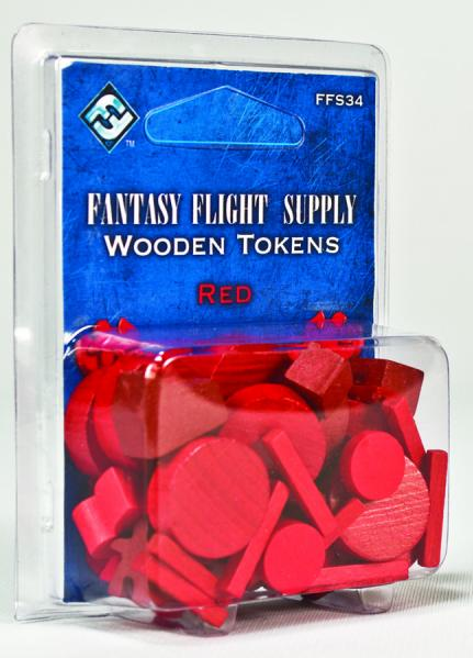 Game Accessories: Wood Tokens (Red) (50)