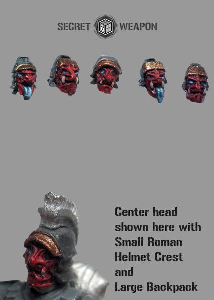 Oni Mask Head Swaps w/Helmets (5)