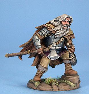 Visions In Fantasy: Male Dwarven Fighter w/Axe & Wine Skin