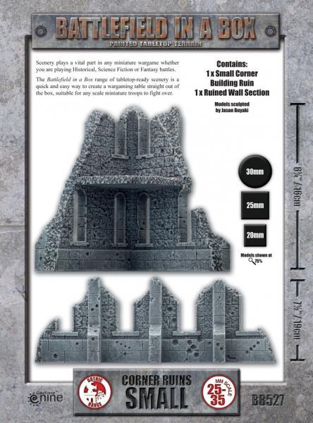 Battlefield in a Box: Corner Ruins Small