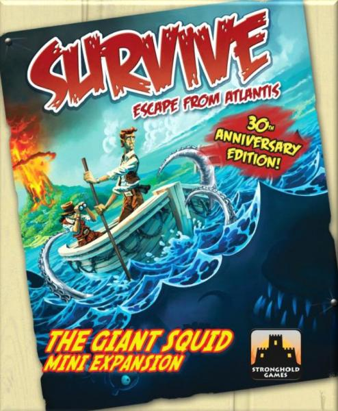 Survive: Escape From Atlantis! - The Giant Squid (30th Anniversary Edition) (Expansion)