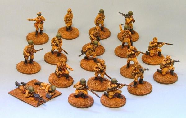 20mm WWII (Soviet): Infantry in Summer Uniform (57)