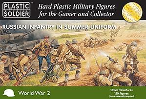 15mm WWII (Soviet): Infantry in Summer Uniform (130)