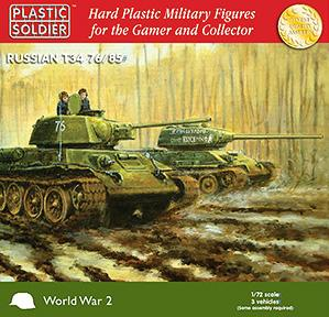 20mm WWII (Soviet): Easy Assembly T34 76/85 Tank