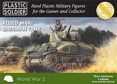 15mm WWII (American): Easy Assembly Sherman M4A1 Tank