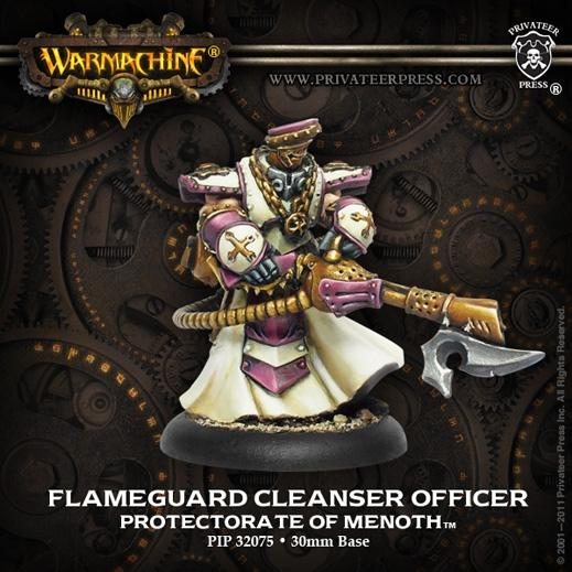 Warmachine: (The Protectorate Of Menoth) Flameguard Cleanser Officer