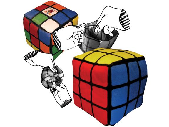 Reversible Rubik's Cube Plush