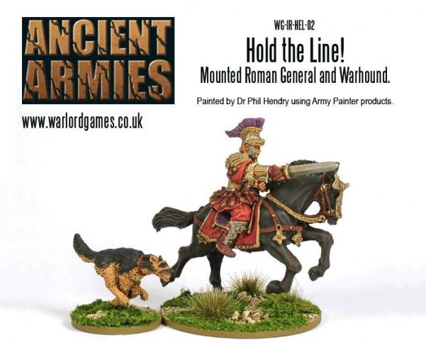 28mm Ancients - Imperial Roman: Hold The Line! Mounted Roman General (and dog!)