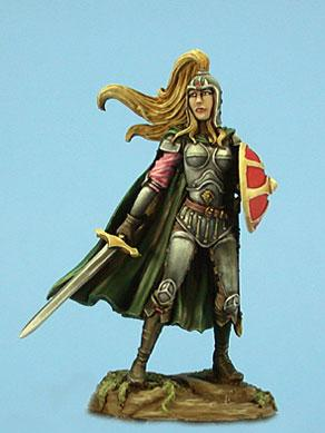 Female Paladin w/Sword & Shield