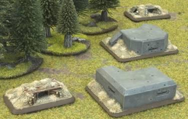 Flames of War - Accessories: Machine Gun Bunkers (4)