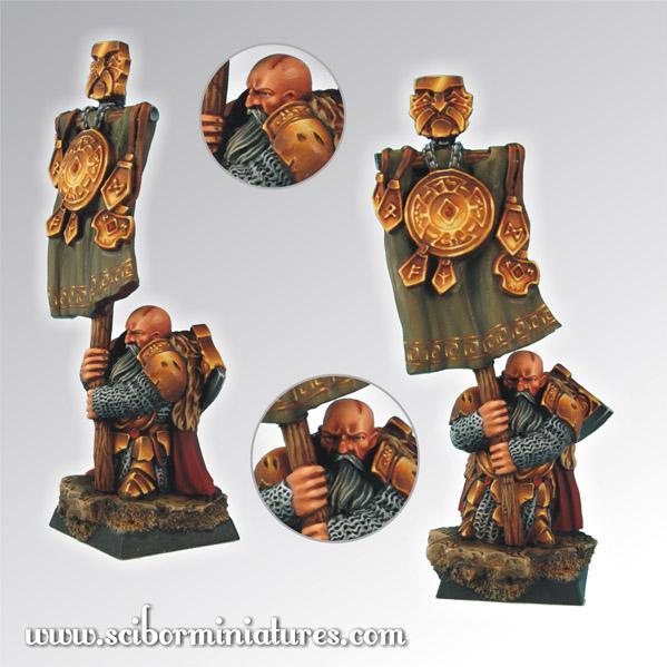28mm Fantasy Miniatures: 28mm/30mm Dwarf Standard