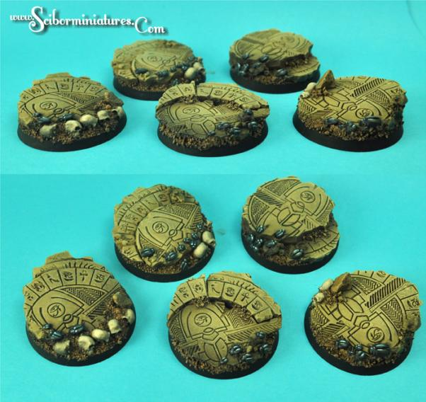 28mm Fantasy Miniatures: Egyptian Ruins 40mm Round Bases Set 1 (2)