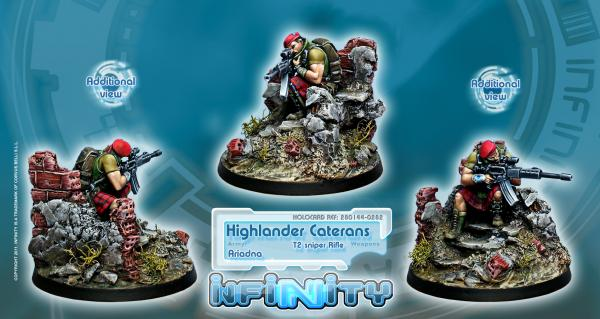 Infinity (#282) Ariadna: Highlander Caterans (T2 Sniper Rifle) (1)