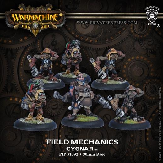 Warmachine: (Cygnar) Field Mechaniks (6)