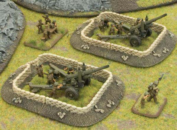 Battlefield in a Box - Scenery: Sandbag - Gun Pit Markers