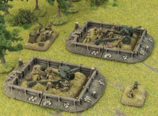Battlefield in a Box - Scenery: Log Emplacements - Gun Pit Markers