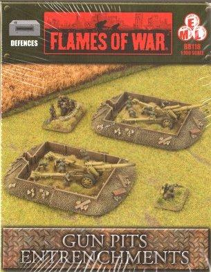 Battlefield in a Box - Scenery: Entrenchments - Gun Pit Markers