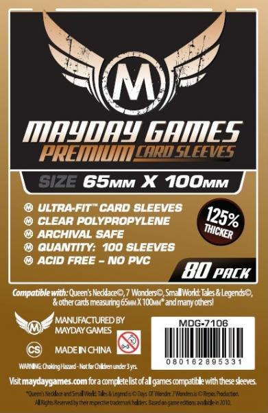 Premium Magnum Ultra-Fit Copper Sleeves: 65 MM X 100 MM (80 Sleeves for 7 Wonders)