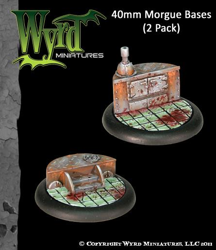 Malifaux: (Bases) Morgue 40mm (2)