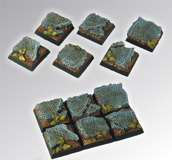 Square Bases: Elven Ruins Square Bases 20mm (5)