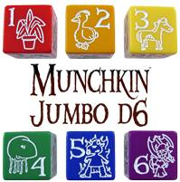 Munchkin Jumbo d6 (Green)